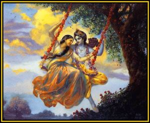 K and Radha on swing of eternity